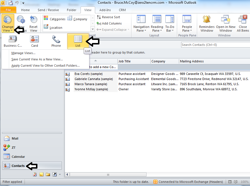 CRM 2011 Outlook Client: Clean up your contacts - Edgewater